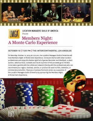 LMGA Members Night: A Monte Carlo Experience @ Intercontinental Hotel - Los Angeles  | Los Angeles | California | United States